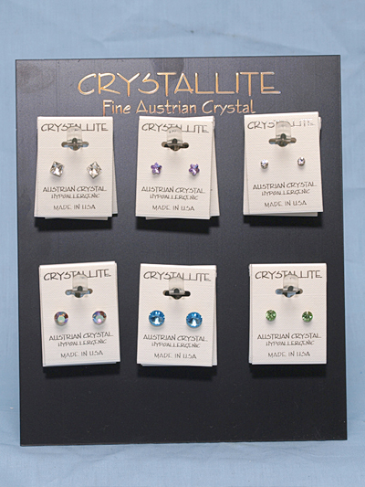 Best Ing Austrian Crystal Post Earring Prepack K 502 24 Pc